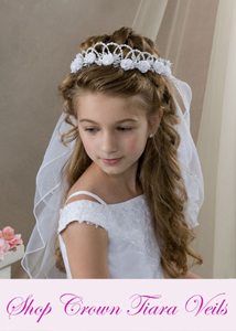 First Communion Crown Veils