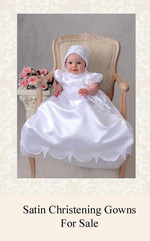 Satin Christening Gowns