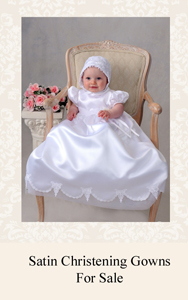 Satin Christening Gowns
