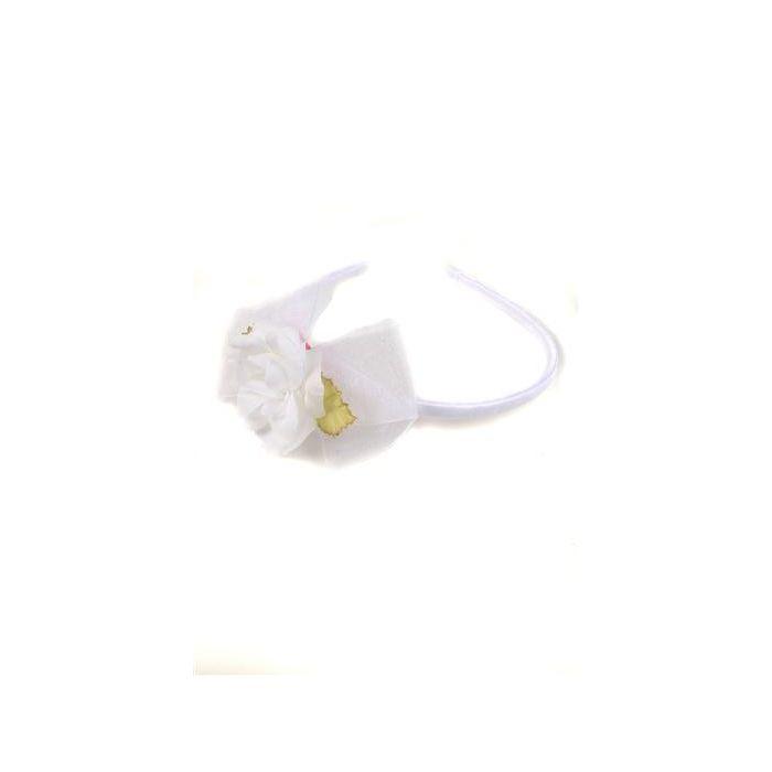 Flower Organza Bow First Communion Headband