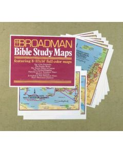 BIBLE STUDY MAPS,SET OF 8/11X14