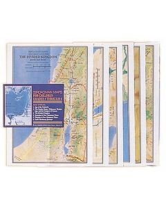 CHILDREN'S BIBLE MAPS /SET OF 6