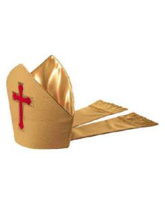 Gold and Red Chapel Bishop Mitre