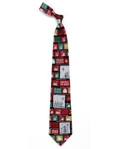 Christmas Tie Pattern Men's Christian Tie