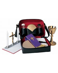 Portable Mass Kit for Priests with Leather Carrying Case