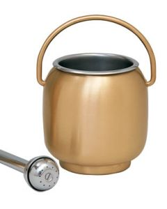 Bronze Holy Water Pot with Sprinkler and Liner