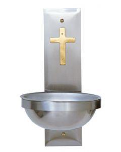 Church Holy Water Font Two Tone Cross