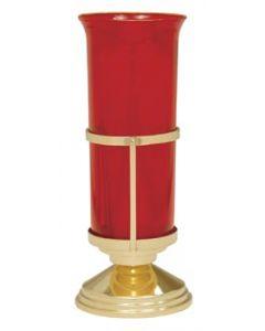 "Bright Brass Church Sanctuary Lamp 7 3/4"""