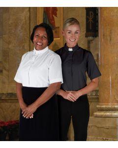 Women's Tab Collar Blouse - Short Sleeve
