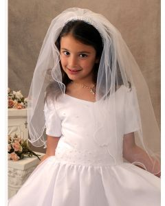 Erika First Communion Headband Veil