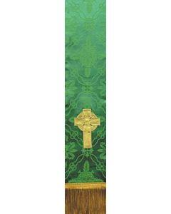 Irish Celtic Cross on Green Ely Bible Marker