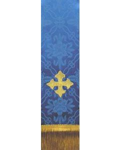 Square Fleury Cross on Blue Bible Marker