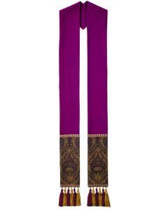 Purple Roncalli Clergy Overlay Stole