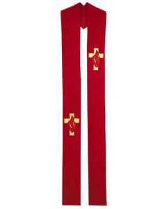 Cross and Flames Pentecost Overlay Clergy Stole
