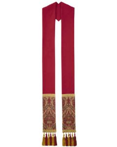 Crimson and Tapestry Clergy Overlay Stole