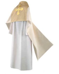 Cream Festive Clergy Humeral Veil