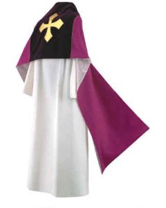 Purple Royale Gold Cross Clergy Humeral Veil