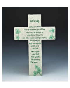 "10"" RESIN IRISH BLESSING CROSS"