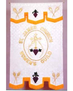 Cross, Grapes and Wheat Banner