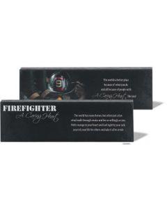 PLAQUE MDF FIREFIGHTER DPLK38-118