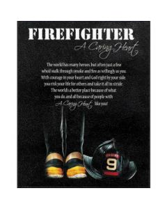 PLAQUE MDF FIREFIGHTER
