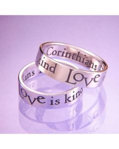 1 Corinthians 13  Sterling Silver Christian Wedding Ring