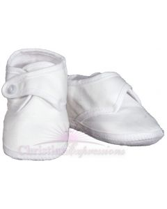Boys Cotton Christening Shoes