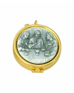 Communion Pyx with Last Supper 7 Host Cap
