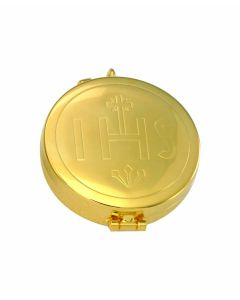 Communion Pyx with IHS Engraved 7 Host Cap