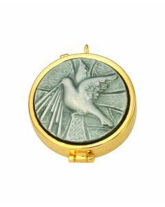 Communion Pyx with Dove 7 Host Cap