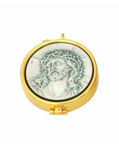 Communion Pyx with Head of Christ 7 Host Cap
