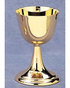 Shiny Gold Communion Cup with Gold Cross Emblem