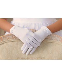 Shamrock First Communion Gloves