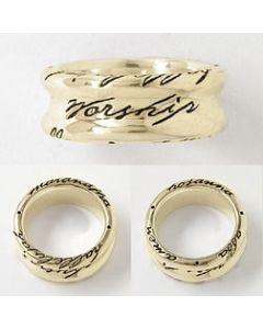 14k Gold Men's Worship Christian Ring