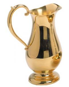 Gold Plated Church Ewer Pitcher
