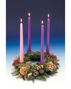 Advent Wreath w/Red Roses