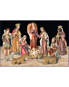 Church Or School Indoor Resin Nativity Set