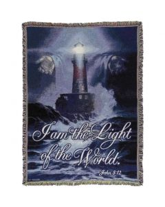 Light of the World Christian Afghan-Throw