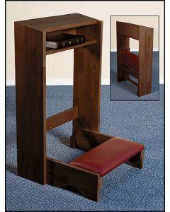 Folding Church Kneeler - Walnut Finish