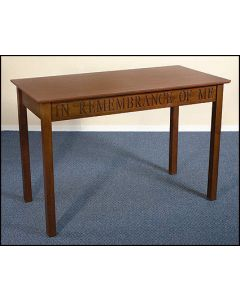 In Remembrance of Me Communion Table Solid Maple
