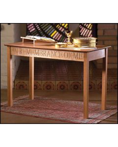 In Remembrance Communion Table Solid Pecan