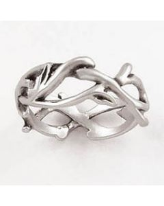 Sterling Silver Ladies Christian Ring Crown of Thorns