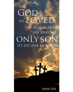 For God So Loved Canvas Church Banner