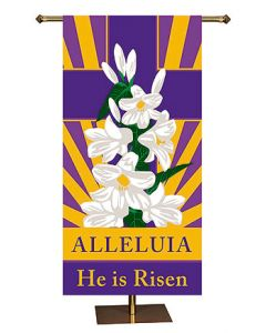 He is Risen Church Banner