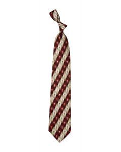 Burgundy Gradient Pattern Cross Men's Christian Tie