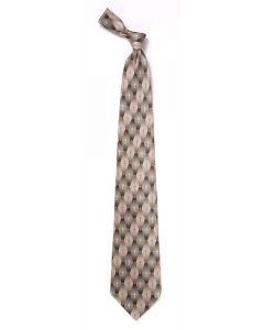 Khaki Gradient Pattern Cross Christian Men's Tie