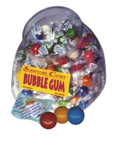 Bubble Gum Scripture Candy Jar