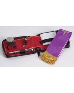 Clergy Portable Sick Call Set with Leather Case