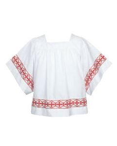 Banded Embroidered Cross Surplice