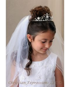 Pearl Crown First Communion Tiara